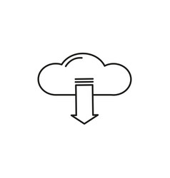 download from cloud icon vector image