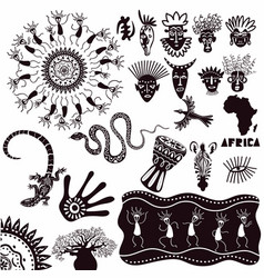 Ethnic ornaments africa a collection vector
