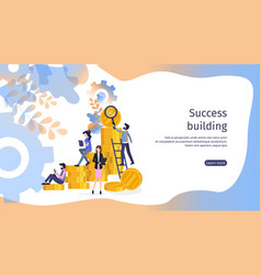 finance business growth teamwork abstract banner vector image