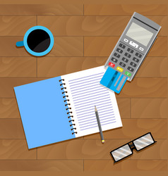 Financial accountant banking vector