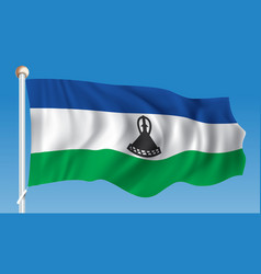flag of lesotho vector image