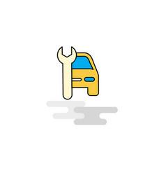 flat car garage icon vector image