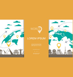 flat travel and tourism concept vector image