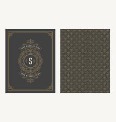 flourishes and ornamental vintage design vector image