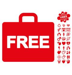 Free accounting icon with valentine bonus vector