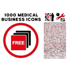 Free Rounded Icon With Medical Bonus vector