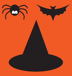 funny halloween mystery vampire silhouettes vector image