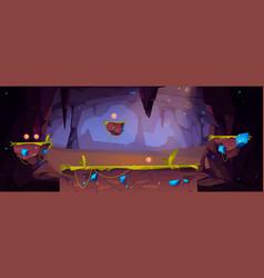 Game platform cartoon underground fantasy world vector
