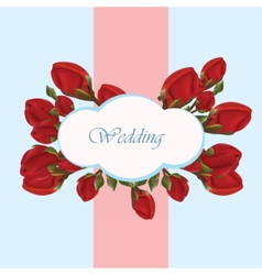 Geranium flower wedding invitation vector image