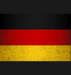 Germany flag background for russian soccer event vector