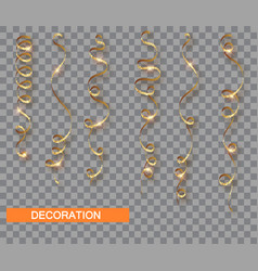 golden glitter serpentine set isolated vector image