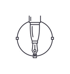 graphics line icon concept graphics vector image