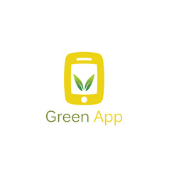 green leaf app logo vector image