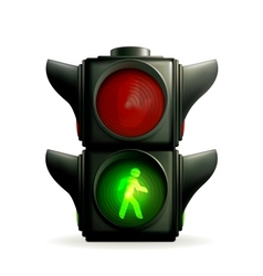 Green light vector image