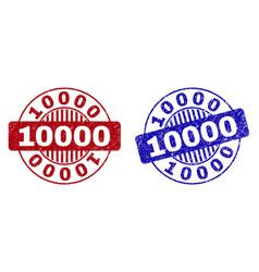 Grunge 10000 textured round stamps vector