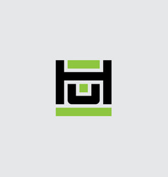h and u logo hu - monogram or logotype design vector image