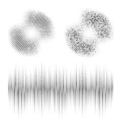 Halftone circle frame dotted set audio equalizer vector