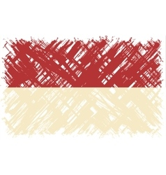 Indonesian grunge flag vector image