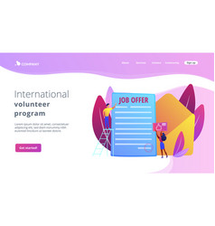 Job offer concept landing page vector