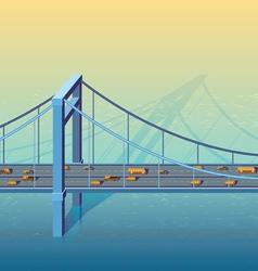 large bridge vector image
