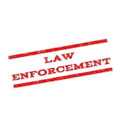 Law Enforcement Watermark Stamp vector