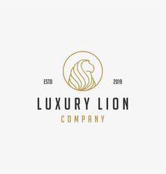 Luxury lion icon logo vector