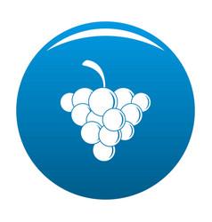 Mellow grape icon blue vector