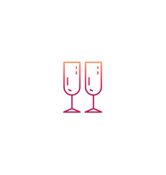 minimal wine glass icon vector image