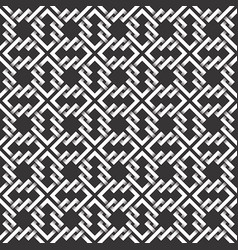 Monochrome seamless pattern intertwined vector