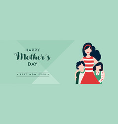 Mothers day banner for happy family holiday vector