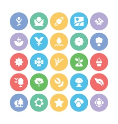 Nature Colored Icons 4 vector image
