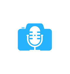 photography podcast logo icon design vector image