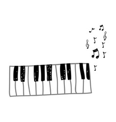 piano instrument with note musical icon vector image