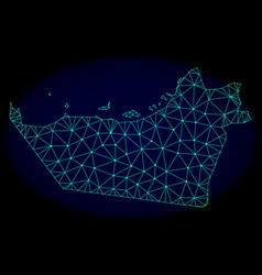 Polygonal network mesh abstract map of abu vector