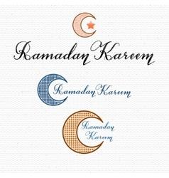 Ramadan Kareem - poster stamp badge insignia vector image