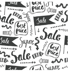 sale seamless doodle pattern best price vector image