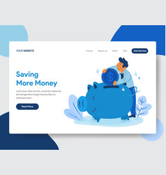 Save money with piggy bank concept vector