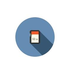 SD card flat icon vector image