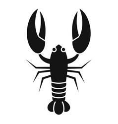 Sea lobster icon simple style vector