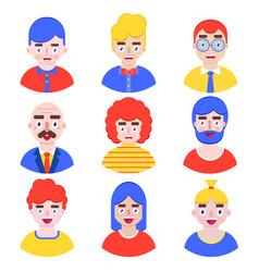 set boys avatars i vector image