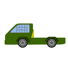 side view of a racing truck vector image