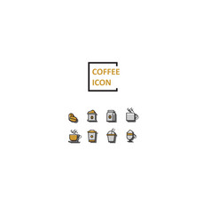 Simple color coffee icon vector