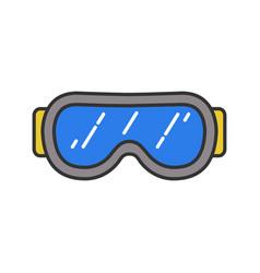 ski goggles color icon vector image