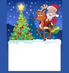 small frame with santa claus 9 vector image