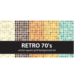 square pattern set retro 70s seamless geometric vector image