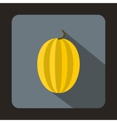 Striped melon icon in flat style vector