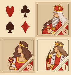 stylized characters card games vector image