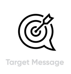 Target message personal targeting icon editable vector