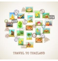 Thailand postcard poster vector