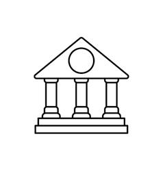 University icon Graduation and education design vector